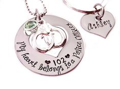 Personalized My Heart Belongs To A Police Officer by Stampressions