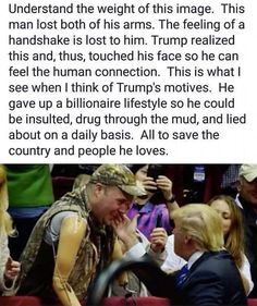 This put a smile on my face. The joy in this man's face is contagious. Donald Trump is human. He's not perfect. But he is our President and deserves our encouragement and prayers. Donald Trump, Landscape Arquitecture, Trump Is My President, Vote Trump, Pro Trump, Trump Train, Human Connection, Conservative Politics, Before Us