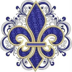 Lacy Fleur de Lis Embroidery Design by DrusDesigns on Etsy Embroidery Designs, Gold Embroidery, Embroidery Tattoo, Embroidery Patches, Molduras Vintage, Machine Embroidery, Etsy, Decoupage, Cross Stitch