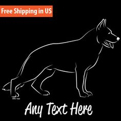 German Shepherd Dog Stacked Vinyl Car Decal by WryToastDesigns, $14.99