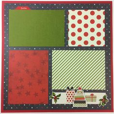 Christmas Scrapbook Page Kit 12x12 or Premade by ArtsyAlbums