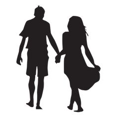 Walking hand in hand couple silhouette - Transparent PNG & SVG vector Silhouette Couple, Man And Woman Silhouette, Silhouette Painting, Silhouette Png, Wedding Silhouette, Silhouette Design, Couple Painting, Love Painting, Shadow Images