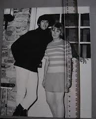 Mark with a fan/friend in 1967.The door is the infamous door at Cielo Drive where Sharon Tate and others were murdered in Aug. 1969. Mark used to live there with songwriting partner Terry Melcher- who owned the house.