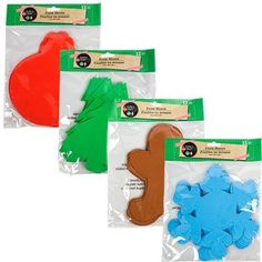 Crafter's Square Foam Christmas Shapes, 12-ct. Packs (Set of 4)