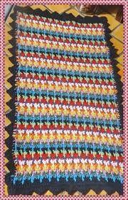 Tapete de Crochê Colorido Retangular-Amor por Art em Crochê