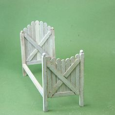 Popsicle stick bed for a fairy garden.
