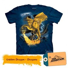 Made by The Mountain Company in New Hampshire, these classic kid's T-Shirts are hand-dyed and printed by a unique process that seamlessly blends the print with Dragon Kid, Dragon Print, Wall Art For Sale, Budget Fashion, Cool Posters, Prints For Sale, Classic T Shirts, Mens Tops, Kids