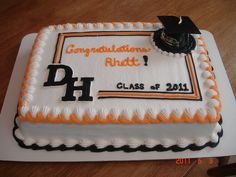 All buttercream (except the hat). The letters D and H are All buttercream (except the hat). The letters D and H are frozen buttercream tr… All buttercream (except the hat). The letters D and H are frozen buttercream transfers…. Fancy Cakes, Mini Cakes, Cupcake Cakes, Graduation Cake Designs, Graduation Ideas, Graduation 2015, Graduation Cupcakes, Graduation Parties, Graduation Decorations
