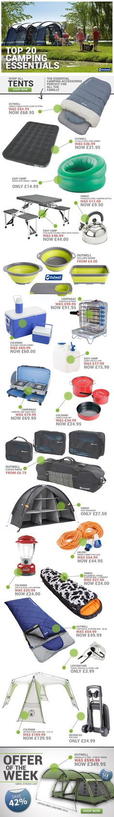 Top 20 Camping Essentials from www.simplyhike.co.uk Wish I could find that organizer here in US..