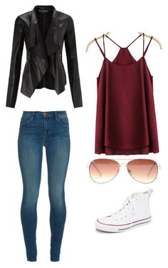 """Outfit Idea by Polyvore Remix"" by polyvore-remix ❤ liked on Polyvore featuring Converse, J Brand, Vince Camuto, Miss Selfridge, women's clothing, women, female, woman, misses and juniors"