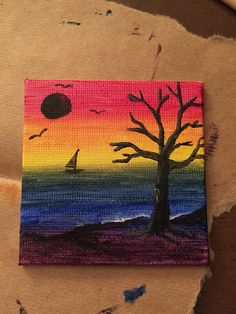 4inch x 4inch mini painting with acrylic paints!