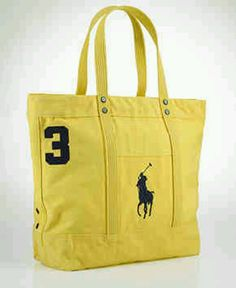 67b01b79aa Polo Ralph Lauren pony canvas tote Equestrian Outfits