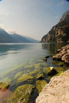 View from Riva, Lago di Garda, close to where my Dad grew up, we visited here together