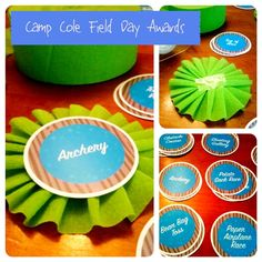 DIY field day awards for a #camp #party ~ crepe paper crafts!