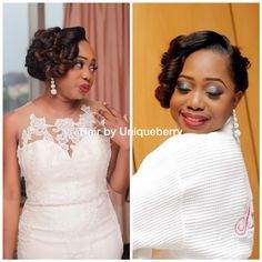 Nigerian wedding bridal hairstyles unique berry hairs 7