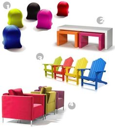 Colored furnitures