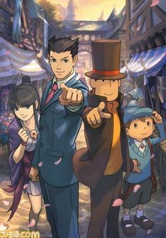 I can't wait to play this!! Professor Layton vs Ace Attorney