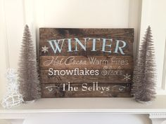 Winter Sign - 18x24