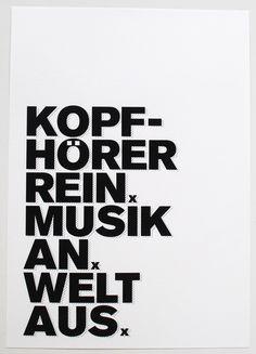 ♥Kopfhörer rein♥   Nun ist der beliebte Taschendruck auch als Print erhältlich.  liebevoll gestalteter Druck gedruckt auf hochwertigem Strukturpapier  Kopfhörer rein, Musik an, Welt aus -...