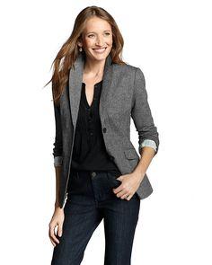 Women's Classic Wool-blend Blazer - Pattern | Eddie Bauer