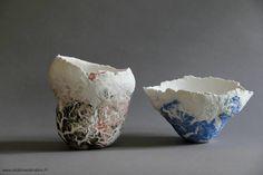 Un monde de diversité | -- Céramique contemporaine -- Delphine Dardare - Artiste - Terre craquelée,enfumée,Raku