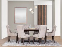 Lakeside Mall, Dining Chairs, Dining Table, 7 Piece Dining Set, Or Antique, Marble Top, Solid Oak, Upholstery, Wood