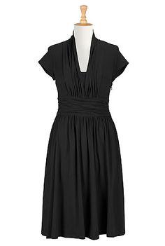 Shop womens designer clothing - Wrap Dresses, Black Wrap Dresses, Solid Hue Wrap Dresses, Printed Wrap Dresses   eShakti.com