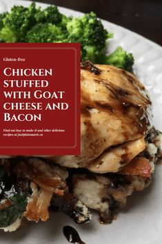 Chicken breasts stuffed with goat cheese and bacon - a recipe that is easy enough for a family dinner but fancy enough for company. Beef Recipes, Real Food Recipes, Great Recipes, Chicken Recipes, Cooking Recipes, Recipe Chicken, Turkey Recipes, Recipe Ideas, Favorite Recipes