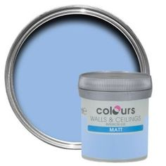 Colours Sky Matt Emulsion Paint 50ml Tester Pot Colours Sky Matt Emulsion Paint 50ml Tester Pot.This Sky emulsion paint has been specially designed to give a stunning finish to your walls  ceilings. Simply apply each coat with a brush or roller an http://www.MightGet.com/april-2017-1/colours-sky-matt-emulsion-paint-50ml-tester-pot.asp