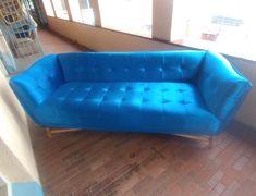 Blue velvet design couch by Upholstery Masters. Sofa, Couch, Blue Velvet, Masters, Upholstery, Furniture, Design, Home Decor, Master's Degree