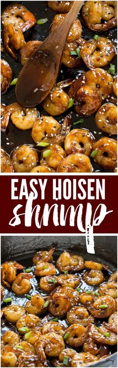 Super Easy Hoisin Shrimp that can be made in only 10 minutes!