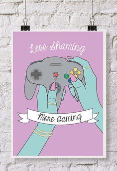 Feminist Illustration Poster by RosieCheeksDesign on Etsy