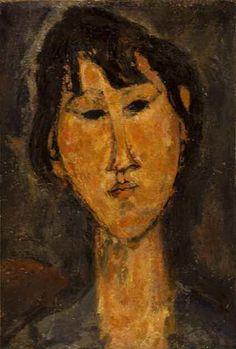 Testa di donna - 1915 Foto Credits: pagina Facebook Modigliani a Pisa