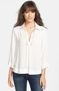 white Blouse for newborn photos 'Stella' Embroidered Blouse available at #Nordstrom