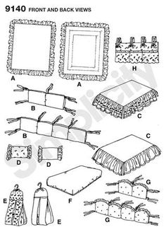 sewing patterns for crib bedding - Google Search