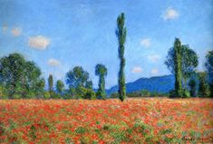 Claude Monet - Poppy Field at Giverny (1890)
