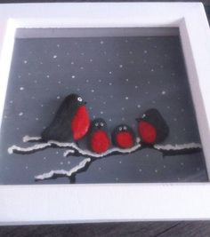 """2 Likes, 1 Comments - My Cornish Crafty Corner (@my_cornish_crafty_corner) on Instagram: """"I'm in my happy place. Winter Robins. I'm really pleased with this #pebbleart #pebbles #robins…"""""""
