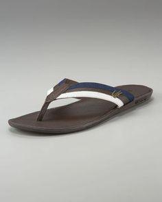 a6960524e0af8 Lacoste Carros Striped Flip-Flop - ShopStyle Sandals