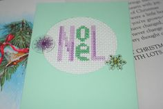 Hey, I found this really awesome Etsy listing at https://www.etsy.com/listing/170889710/noel-cross-stitch-card
