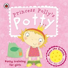 Brolly Sheets Toilet Training Book - Follow Princess Polly on her potty training adventure and press the sound button to cheer her along!  This book is perfect for helping girls feel confident and motivated about using the potty. Visit out website for more details.