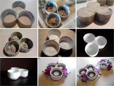 Il Blog di Susanna: Portacandele fa-da-te con... i rotoli del nastro adesivo