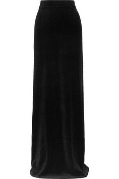 Vetements - Juicy Couture Cotton-blend Velour Maxi Skirt - Black - x small