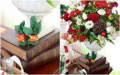 Decoração para Natal! Arranjos florais em vermelho