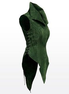 Tunic green. Starter idea for surcoat.  Use suede. Check colours against concept art and final images.