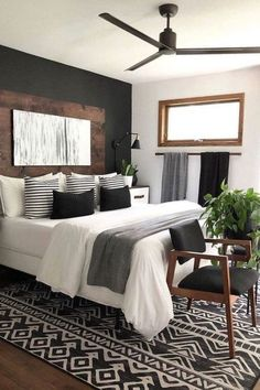 Small Room Bedroom, Home Decor Bedroom, Small Rooms, Couple Bedroom, Chic Bedroom Ideas, Modern Chic Bedrooms, Bedroom Furniture, Dream Master Bedroom, Furniture Design