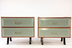 Pair of Upcycled MidCentury Nightstands by hundredacre on Etsy, $650.00