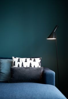 Living room feature wall: Jotun Supermatt LADY Pure Color 5362 Fusion