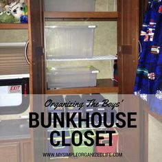 When we moved into the RV, I wanted to hang my boys' clothes in their closets, but there were only shelves. So, I removed one of the...