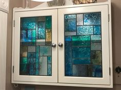19 Fantastic Techniques for Faux Stained Glass Love the stained glass look, but not the price? Look no further! Love the stained glass look, but not the price? Look no further! Bathroom Windows, Glass Bathroom, Glass Shower Doors, Bathroom Ideas, Stained Glass Door, Stained Glass Cabinets, Painting Shower, Antique Windows, Glass Material