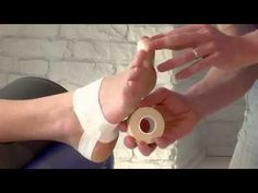 Strapping antalgique de l'hallux valgus - YouTube